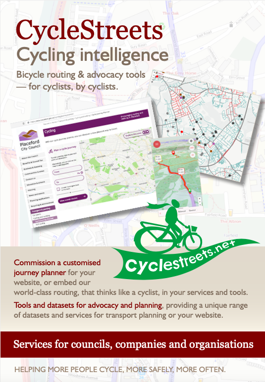 CycleStreets brochure for Local Authorities